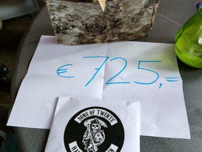 Hardcore Eibergen doneert €725,-